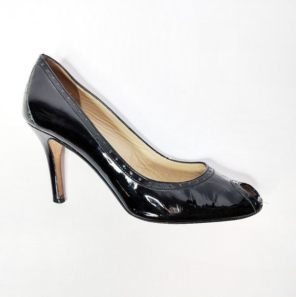 ed5944f41674 kate spade Shoes - KATE SPADE Black leather peep toe heels oxford